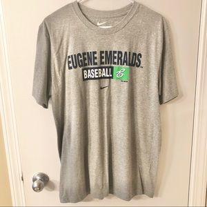 NWOT Eugene Oregon Emeralds Baseball Nike Tee L